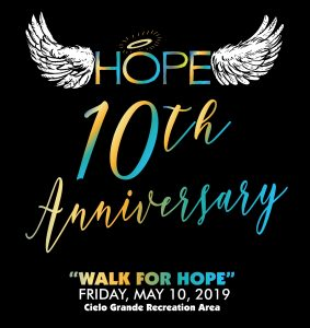 10th Anniversary Walk for Hope May 10, 2019