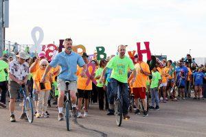 walking and biking for Hope
