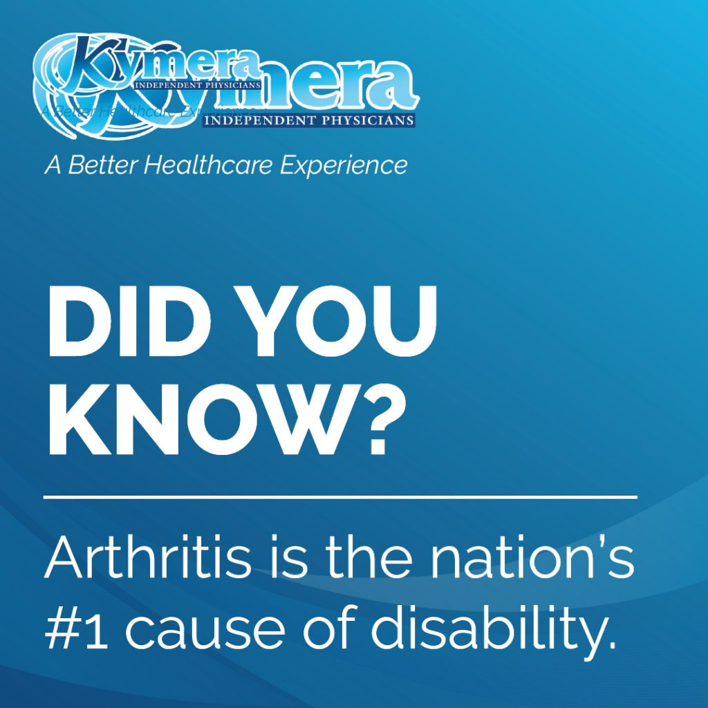 Did you know arthritis #1 disability
