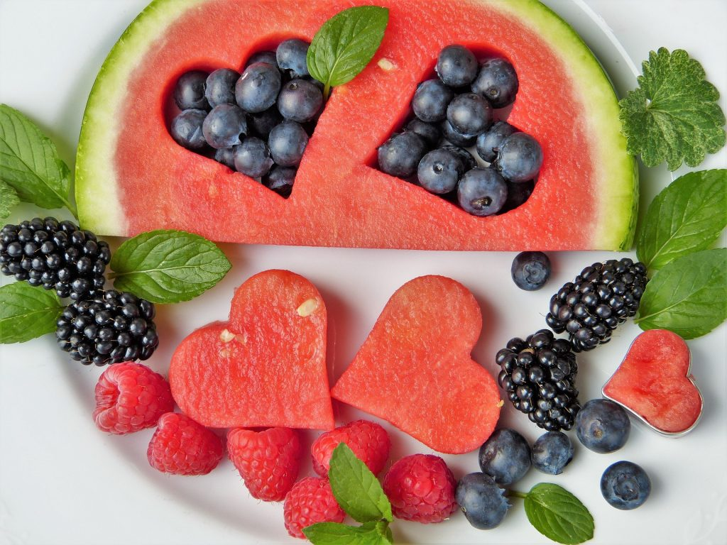 heart healthy fruits watermelon and berries