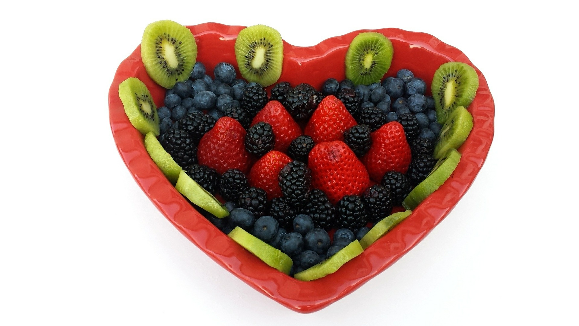 heart shapped healthy fruits