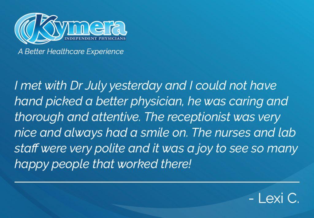 Dr Mose July testimonial